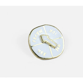 Buy Olympia Indecisive Spinner Enamel Pin