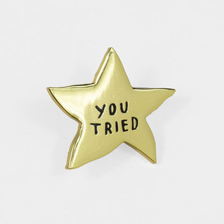 Buy Olympia You Tried Gold Star Pin