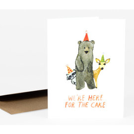 Buy Olympia Birthday Card - Here For The Cake