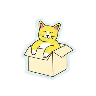 Seltzer Cat in Box Sticker