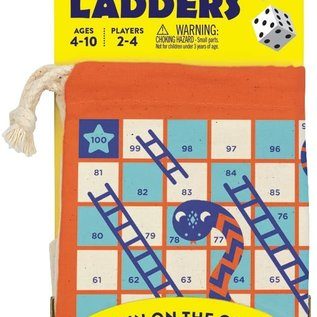 Chronicle Books Snakes & Ladders Travel Game