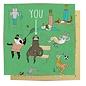 La La Land Greeting Card - Sloth Benchwarmer