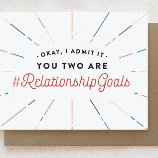 Quirky Paper Co. Wedding Card - Relationship Goals