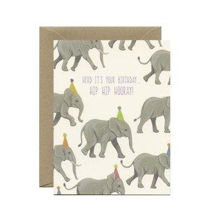 Yeppie Paper Birthday Card - Herd Elephants