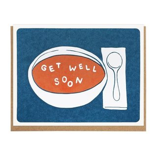 Lucky Horse Press Get Well Card - Soup