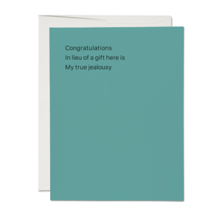 Red Cap Cards Congrats Card - True Jealousy