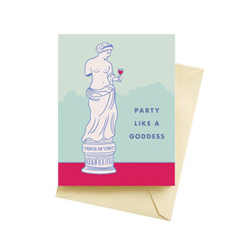 Seltzer Birthday Card - Goddess
