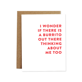 Rhubarb Paper Co. Greeting Card - Burrito
