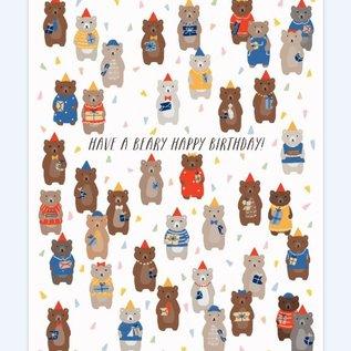 Paula & Waffle Birthday Card - Bears
