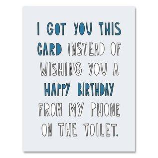 Near Modern Disaster Birthday Card - Toilet Birthday