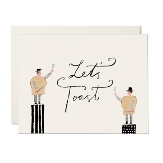 Red Cap Cards Congrats Card - Let's Toast