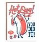 Hello Lucky / Egg Press Congrats Card - Hot Dog