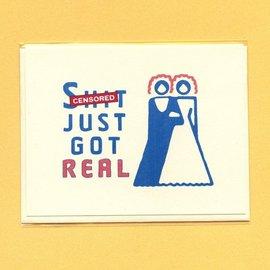 Seas and Peas Wedding Card - Real (Bride/Bride)