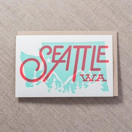 Pike St. Press Greeting Card - Seattle State Overprint