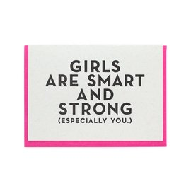Constellation & Co. Encouragement Card - Girls are Smart and Strong