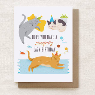 Quirky Paper Co. Birthday Card - Lazy Cats