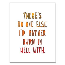Near Modern Disaster Greeting Card - Burn in Hell