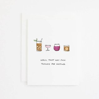 Party Sally Thank You Card - Cocktails
