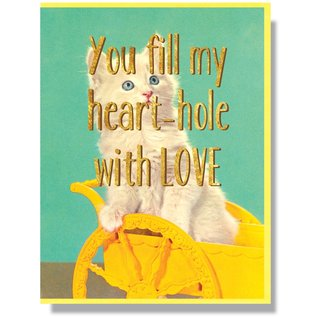 Smitten Kitten Love Card - My Heart-Hole