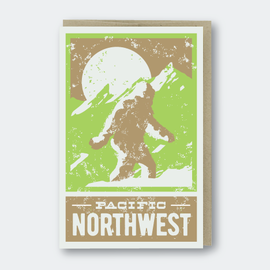 Pike St. Press Greeting Card - Sasquatch PNW