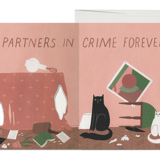 Red Cap Cards Love Card - Cat Crimes