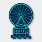 Pike St. Press Seattle Wheel Sticker