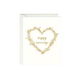 Paula & Waffle Wedding Card - Happy Marriage