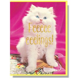 Smitten Kitten Greeting Card - Feeeelings