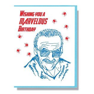 Smitten Kitten Birthday Card - Stan Lee