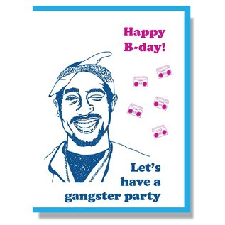 Smitten Kitten Birthday Card - Tupac Shakur