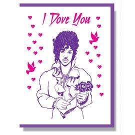 Smitten Kitten Love Card - Prince I Dove You