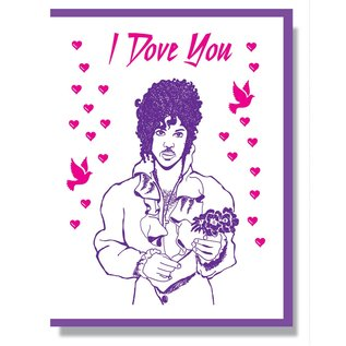 Smitten Kitten Love Card - Prince I Dove You