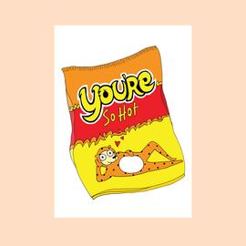 Fine Ass Lines Love Card - You're Sot Hot