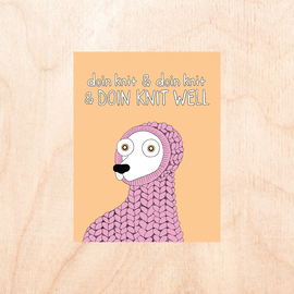 Fine Ass Lines Greeting Card - Doin' Knit Well