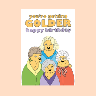 Fine Ass Lines Birthday Card - Getting Golder