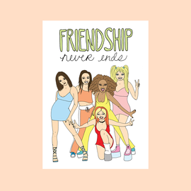 Fine Ass Lines Greeting Card - Spice Girls