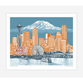 Buy Olympia Seattle to Mt. Rainier Print