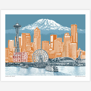 Buy Olympia Seattle to Mt. Rainier Print