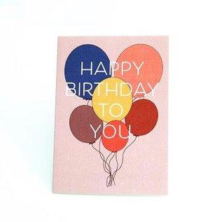 Aya Paper Co. Birthday Card -  Balloons