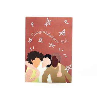 Aya Paper Co. Congrats Card - Congrats Sis