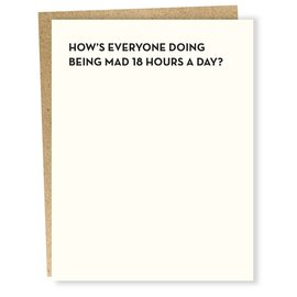 Sapling Press Greeting Card - 18 Hours a Day