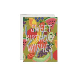Red Cap Cards Birthday Card - Fruity Birthday