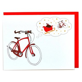 Cracked Designs Holiday Card - Bicycle Dreams