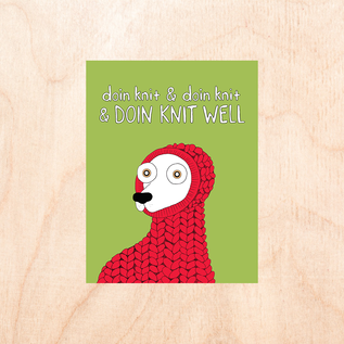 Fine Ass Lines Holiday Card - Doin' Knit Well