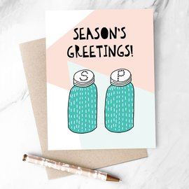 Hooray All Day Holiday Card - Season's Greetings