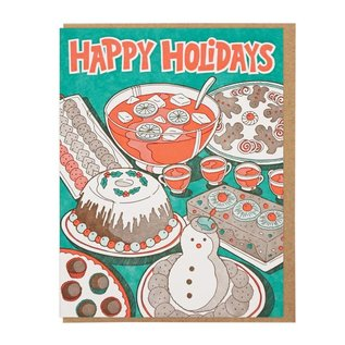 Lucky Horse Press Holiday Card - Party Food