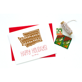 Party of One Holiday Card - WA State Cookie