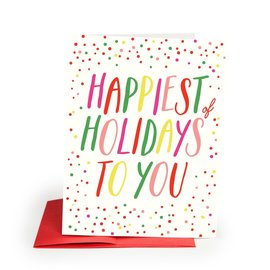 The Social Type Holiday Card - Happiest
