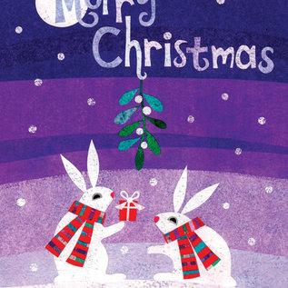 Allport Editions Holiday Card - Bunnies & Mistletoe