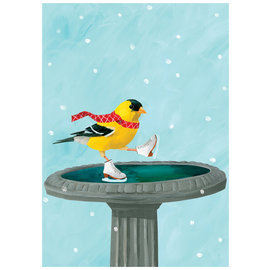 Allport Editions Goldfinch Skater Holiday Boxed Notes
